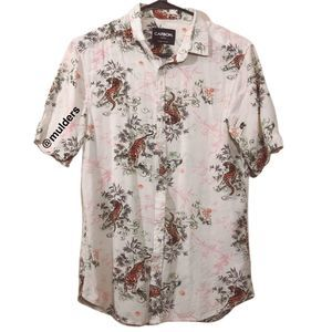 Carbon Asian Tiger Tropical Button Up Shirt